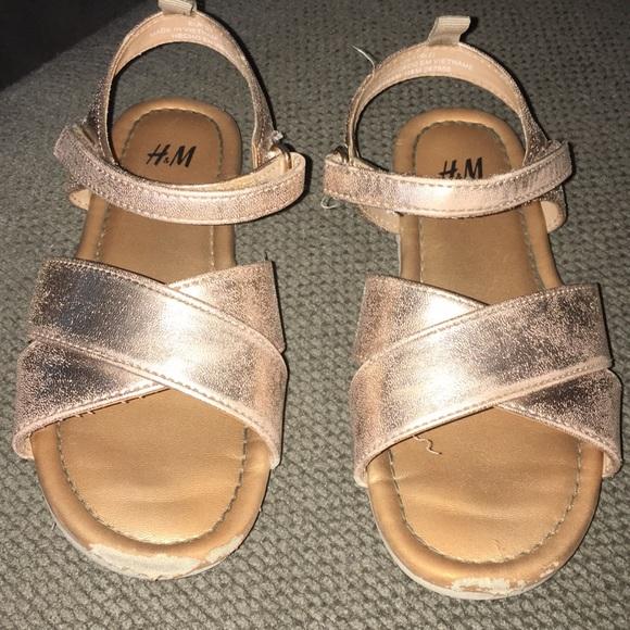 H\u0026M Shoes | Hm Girls Rose Gold Sandals